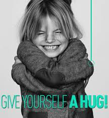 give yourself a hug